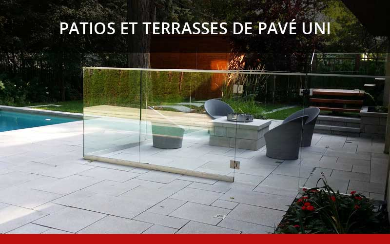 Am nagement denis paysagiste pav uni montr al laval for Terrasse bois et pave