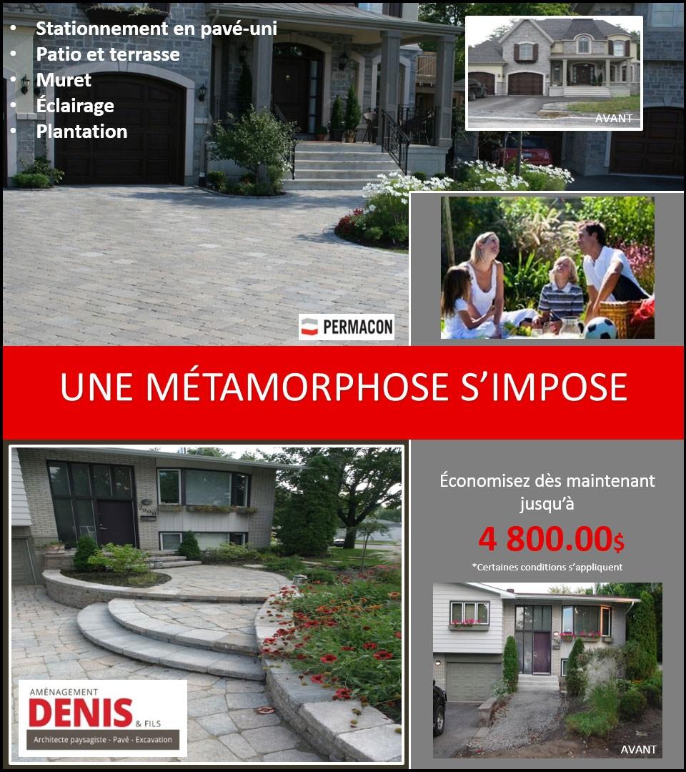 Promotion métamorphose d'aménagement paysager