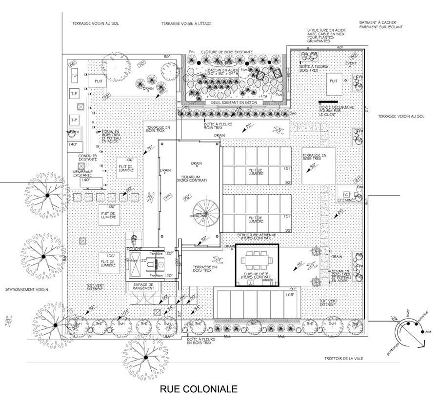Plan De Toit Terrasse Aménagement Denis Paysagiste Pavé