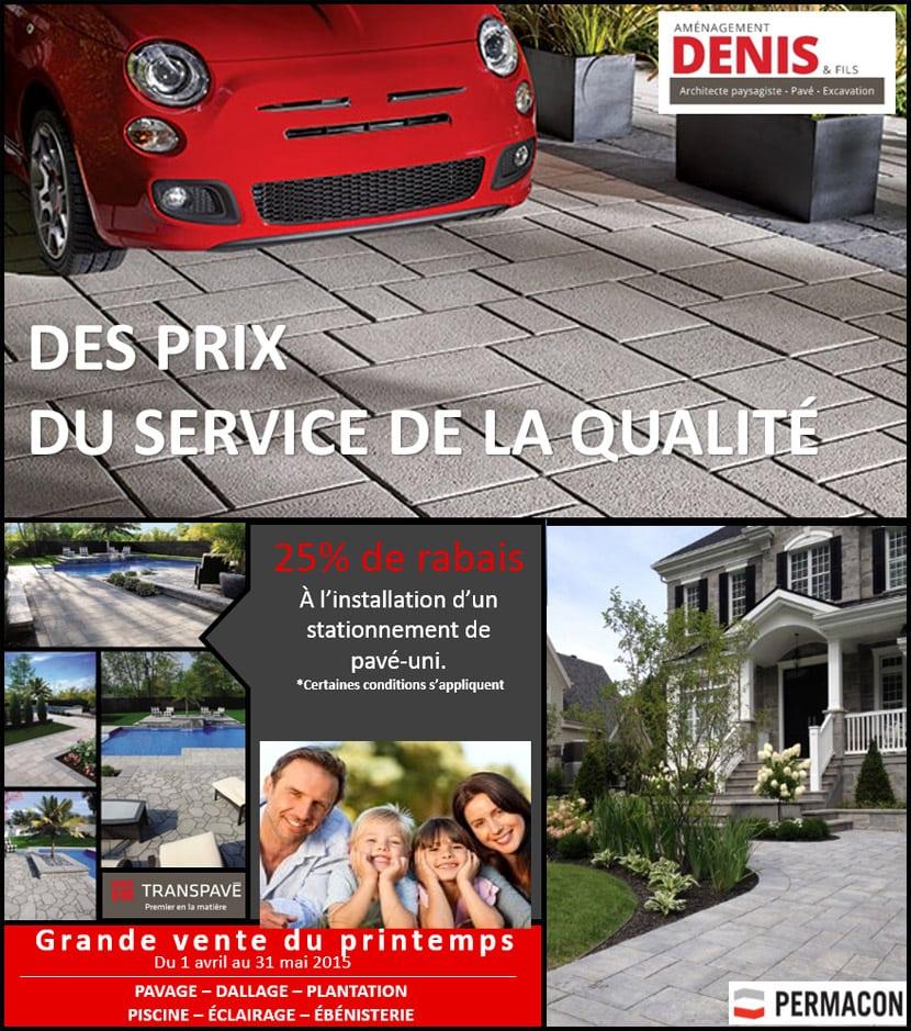 Promotion service d'aménagement paysager