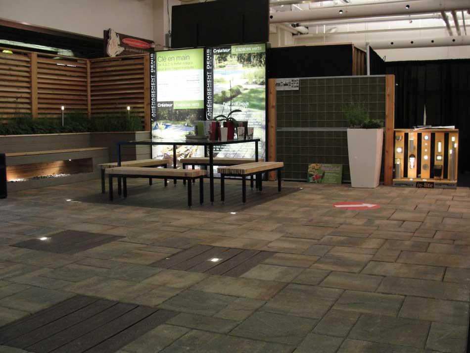 am nagement denis paysagiste pav uni montr al laval salon national de l 39 habitation de. Black Bedroom Furniture Sets. Home Design Ideas